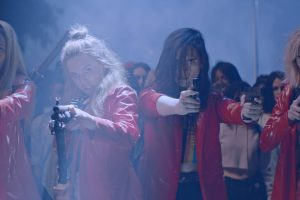 Em (Abra), Lily (Odessa Young), Bex (Hari Nef) And Sarah (Suki Waterhouse) In ASSASSINATION NATION. Courtesy Of NEON